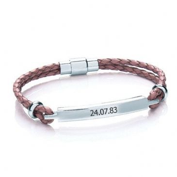 Personalised Womens Leather Bracelet